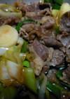葉ニンニクと牛肉の…すき焼き風煮