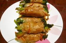 ●かき菜の肉巻き●