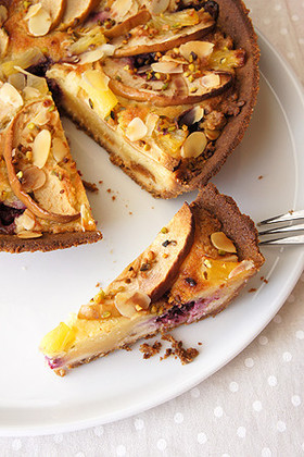 クリームチーズとフルーツのタルト