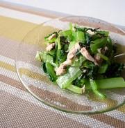 小松菜とツナの美味しいサラダの写真