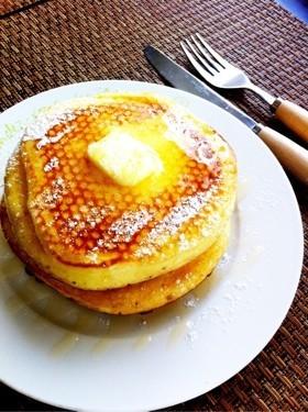 朝食に♪ふわふわパンケーキ♬