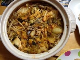 鯖水煮缶deキムチ鍋