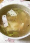 たけのこ☆ベーコン☆春雨の簡単スープ