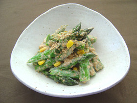 春野菜☆アスパラとスイートコーンのサラダ