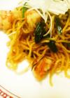塩麹使用♪エビとニラの上海風焼きそば