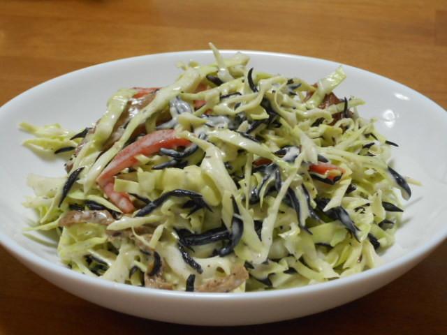 超簡単◇ひじき煮物とキャベツのサラダ