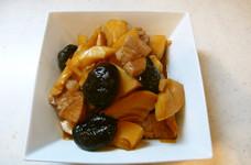 筍と干し椎茸のこってり煮!