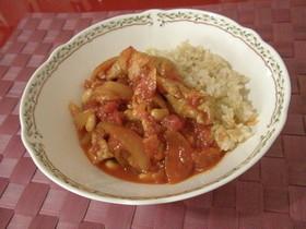 簡単!豚と大豆のコクうま生姜トマト煮込み