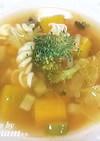 優しい味のマカロニと野菜のスープ