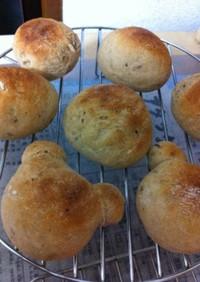 【塩麹】天然酵母のバジルパン