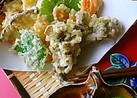 パリッとサクサク♪野菜とキノコの天ぷら♪