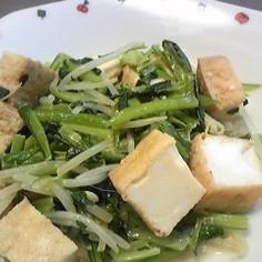厚揚げと野菜の蒸し炒め