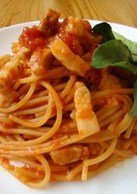 『自家製パンチェッタの濃厚トマトソース』
