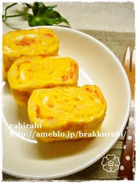 ✿お弁当にカニカマ入りの卵焼き✿
