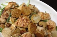 長芋と鶏肉の塩麹炒め