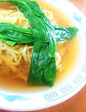 超簡単!手作りスープの醤油ラーメン♪