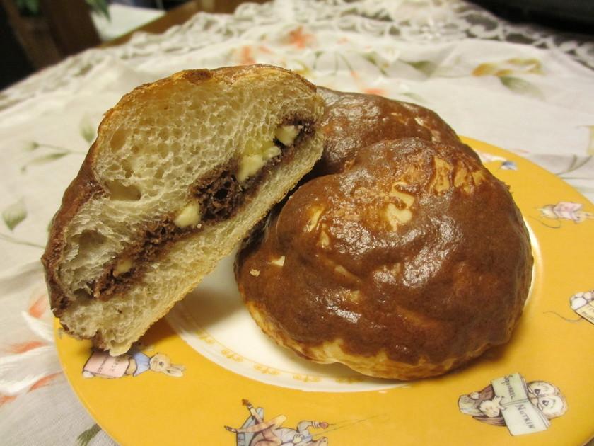 HMで簡単チョコメロンパン