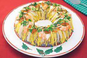 クリスマスリース寿司