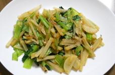 塩麹で小松菜とじゃがいもの炒めもの♪