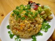 『自家製パンチェッタの玄米炒飯』の写真
