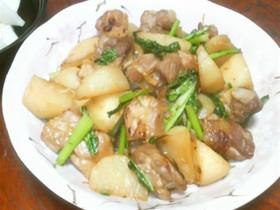 カブと鶏肉の炒め物