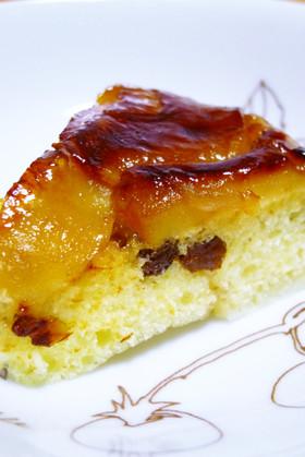フライパンdeアップルレーズン塩麹ケーキ