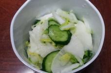 白菜ときゅうりと大根の漬け物