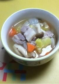 塩豚で☆野菜スープ