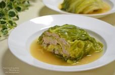 春キャベツと挽肉の重ね蒸し煮☆