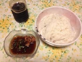 生の小海老で作る素麺つゆ☆彡