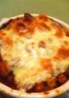 マカロニの大豆トマトソースグラタン
