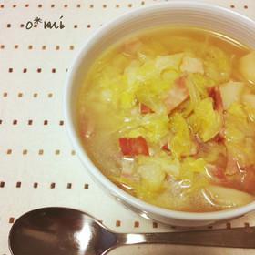 キャベツたっぷりコンソメスープ
