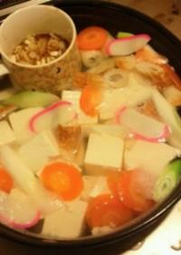 ちょ〜簡単!彩り湯豆腐