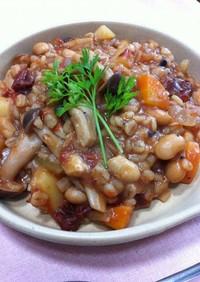 【菜食】押し麦と根菜のトマトリゾット