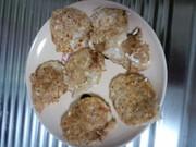 離乳食後期。豆腐とツナのおやきの写真