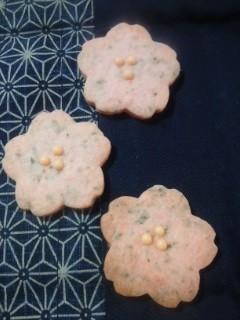 ワンボウルで簡単、桜さくさくクッキー