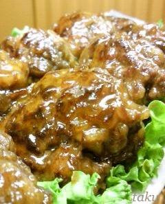 牛切り落とし1口ステーキ(照り焼き味)