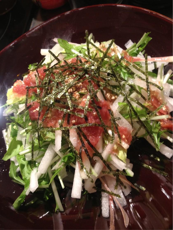 大根と水菜のシャキシャキ梅サラダ