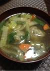 冷凍のまま肉団子の中華スープ