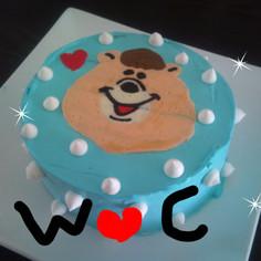 簡単デコレーション★クマタンのケーキ★