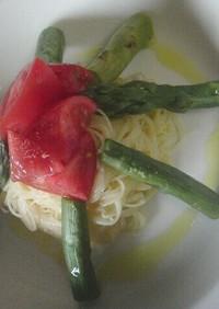 ♡トマトとアスパラの塩麹カッペリーニ♡