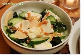 塩麹豆腐サラダ