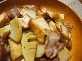 豚バラ肉と筍のバターじょうゆ炒め