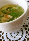 *豆腐と絹さやの卵スープ*