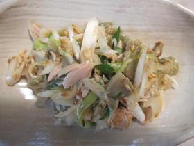 ☆塩麹を使い、ねぎと胡瓜とザーサイ混ぜ☆