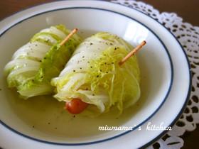 *白菜のウィンナーロール煮*