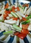 彩り野菜のクレイジーソルト炒め