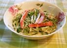ゴマドレッシングで水菜サラダ