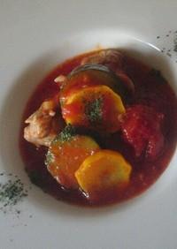 ♡鶏肉とズッキーニの塩麹トマト煮込み♡