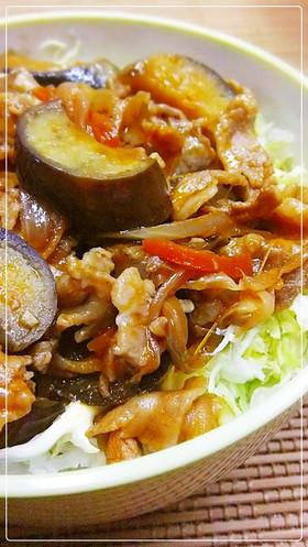 息子のイチオシ✿なすと豚肉丼✿